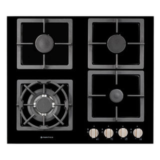 Parmco 600mm Hob, 3 Burner + Wok, Gas, Black Glass