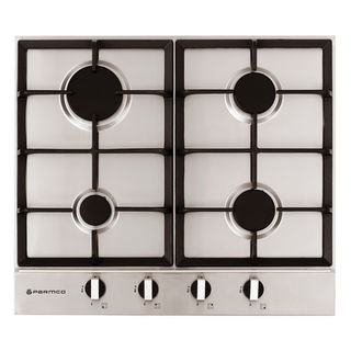 Parmco 600mm Hob Stainless Steel, 4 Burner, Gas