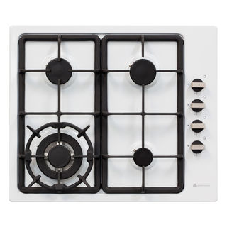 Parmco 600mm Hob, 3 Burner + Wok, Gas, White