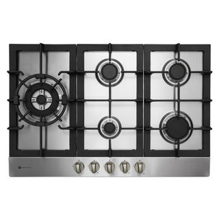 Parmco 770mm Hob, 4 Burner + Wok, Gas, Stainless Steel