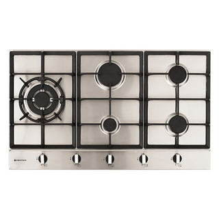 Parmco 900mm Hob, 4 Burner + Wok, Gas, Stainless Steel