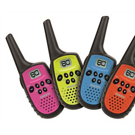 Uniden Mini Compact UHF Handheld Radios Quadruple Colour Pack