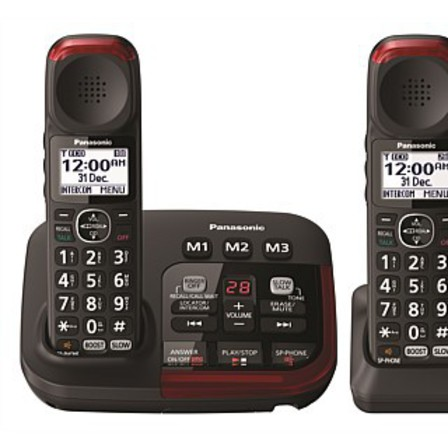 Panasonic Amplified Hearing and Vision Cordless Phone Twin Pack