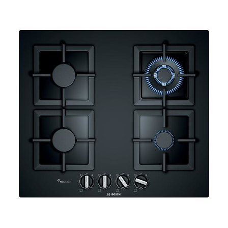 Bosch 60cm Gas Black Tempered Glass Cooktop