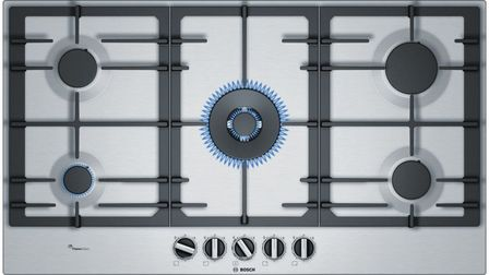 Serie | 6 90 cm Gas Cooktop, Stainless steel