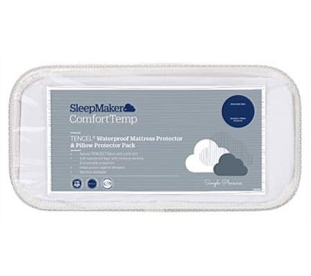 SleepMaker Mattress And Pillow Protector Set Single