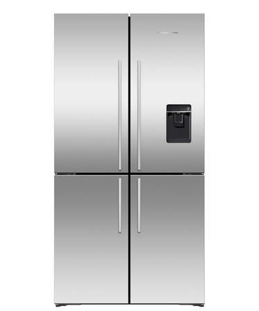 Quad Door Fridge Freezer, 905mm, 605L, Ice & Water