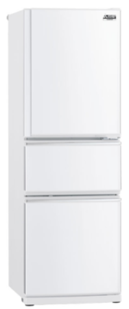 Mitsubishi 306L White Two Drawer Fridge Freezer