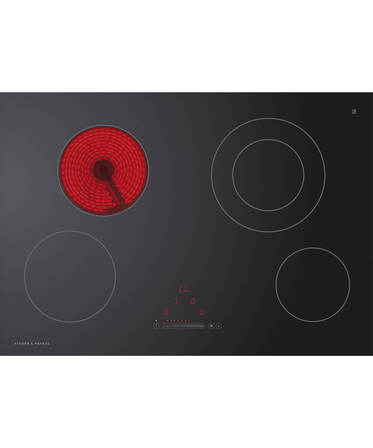 Fisher & Paykel Electric Cooktop 75cm, 4 Zone