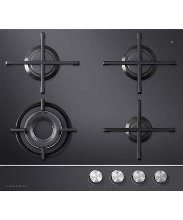 Fisher & Paykel Gas on Glass Cooktop 60cm, 4 Burner