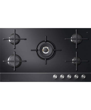 Fisher & Paykel Gas on Glass Cooktop 90cm, 5 Burner