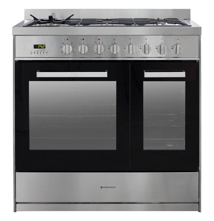 Parmco 900mm Combination Freestanding Stove, 1+1/2 Stainless Steel Oven