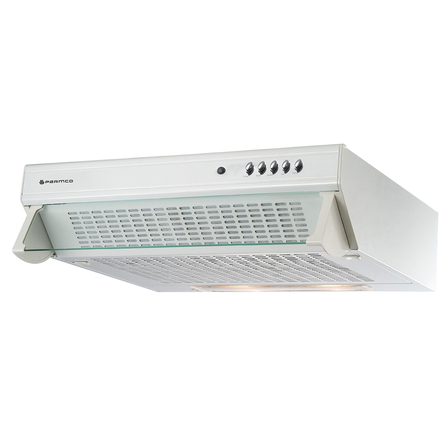 Parmco 600mm Glass Front Caprice Rangehood, White