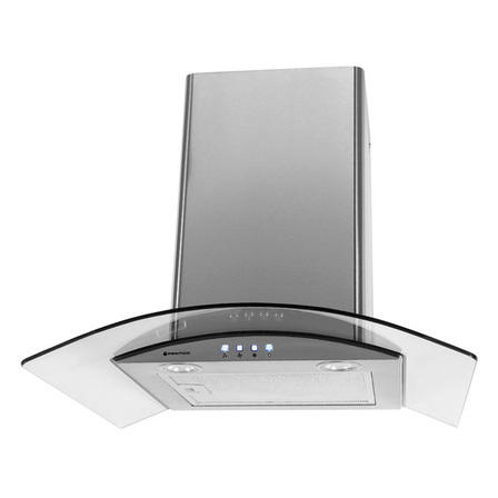 Parmco 600mm Canopy Curved Glass, LED