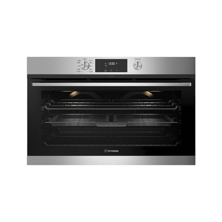 Westinghouse 90cm Multi-Function 10 Pyrolytic Oven with AirFry, Stainless Steel
