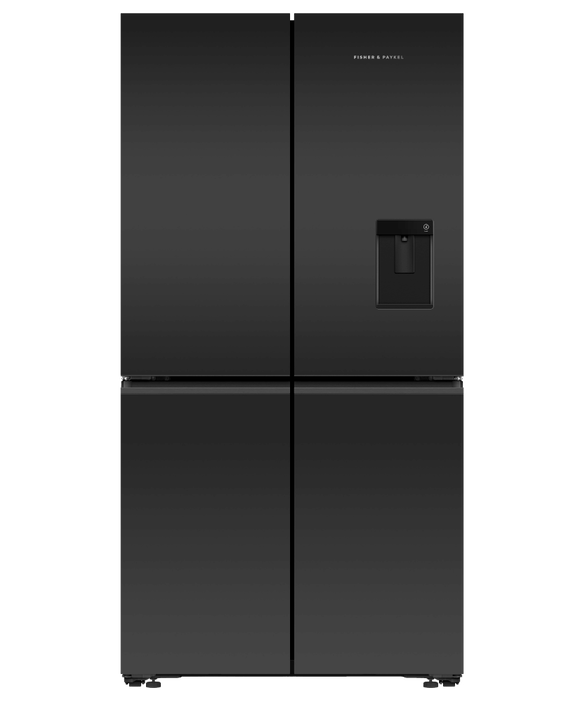 Fisher & Paykel Freestanding Quad Door Refrigerator Freezer, 90.5cm, Ice & Water 605L
